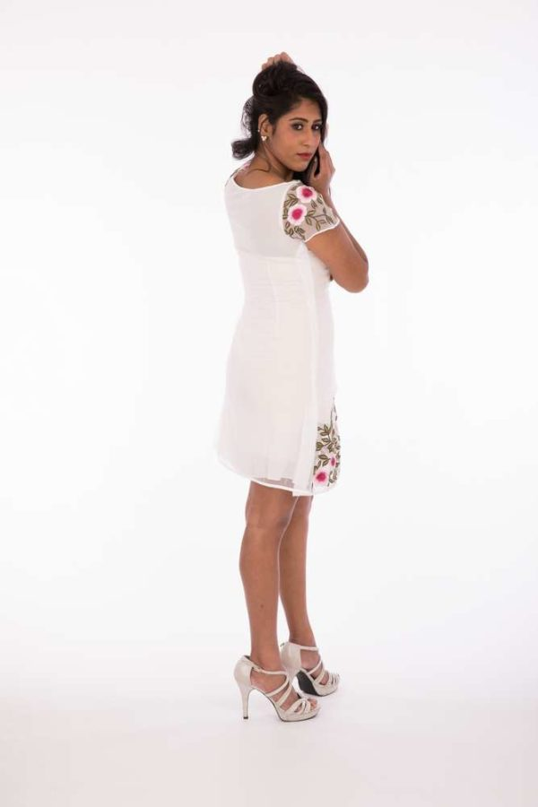 Lily White Embroidered Dress