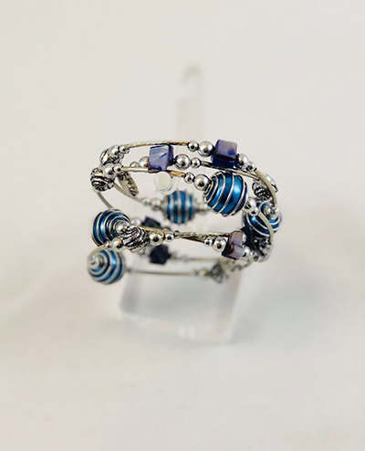 Spiral Beaded Bracelet