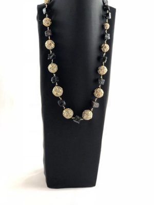 laality-uk-black-stone-bauble-necklace-accessories-uk
