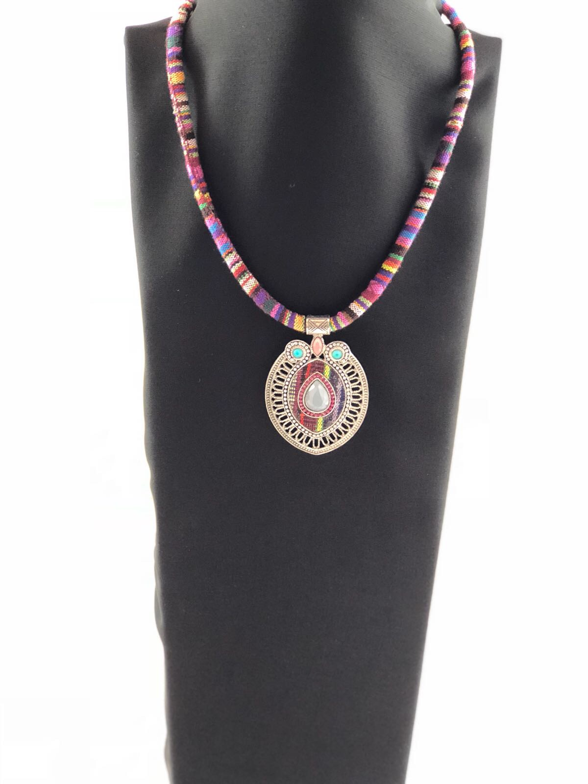 Boho Pink Fabric Necklace Laality Indo Western Clothing For Women