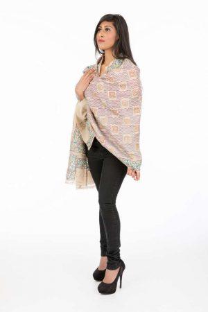 laality-uk-pink-&cream-textured-shawl-stoles-uk