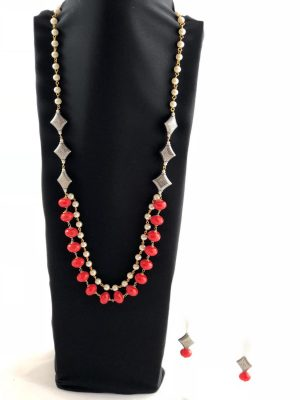laality-uk-red-&-white-beads-necklace-set-accessories