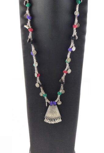 laality-uk-silver-coin &-thread-beads-necklace-accessories