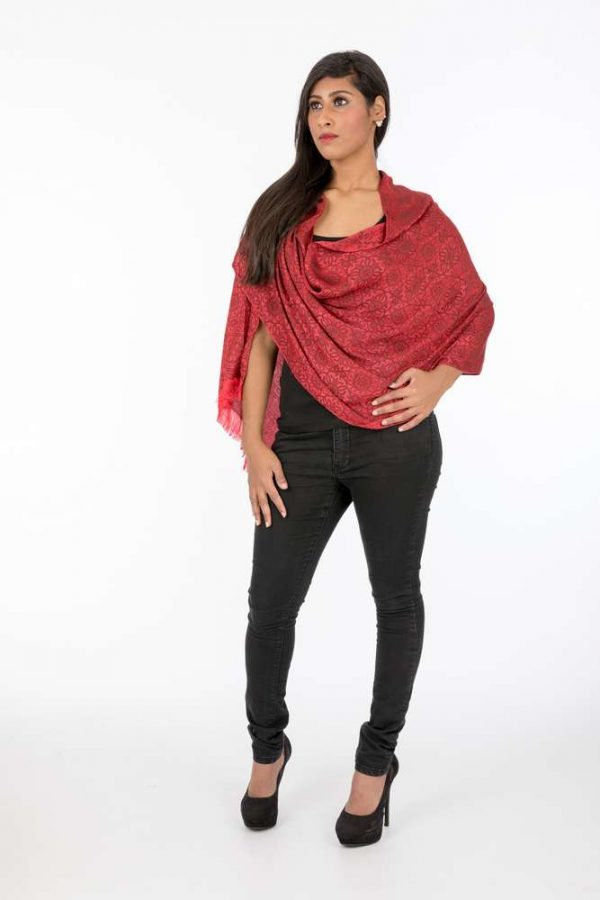 laality-uk-red-polyester-viscose-scarf-scarves-uk
