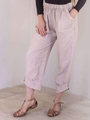 laality-uk-cuffed-button-hem-trousers-clothing online