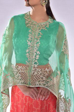 laality-uk-kavita-silk-dress-with-cape-indo-western-online