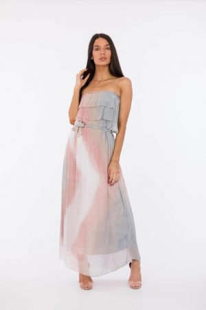 laality-uk-cressida-italian-silk-bandeau-dress-italian style online